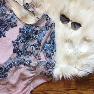 Free People Printed Symphony Slip Dress Tunic
